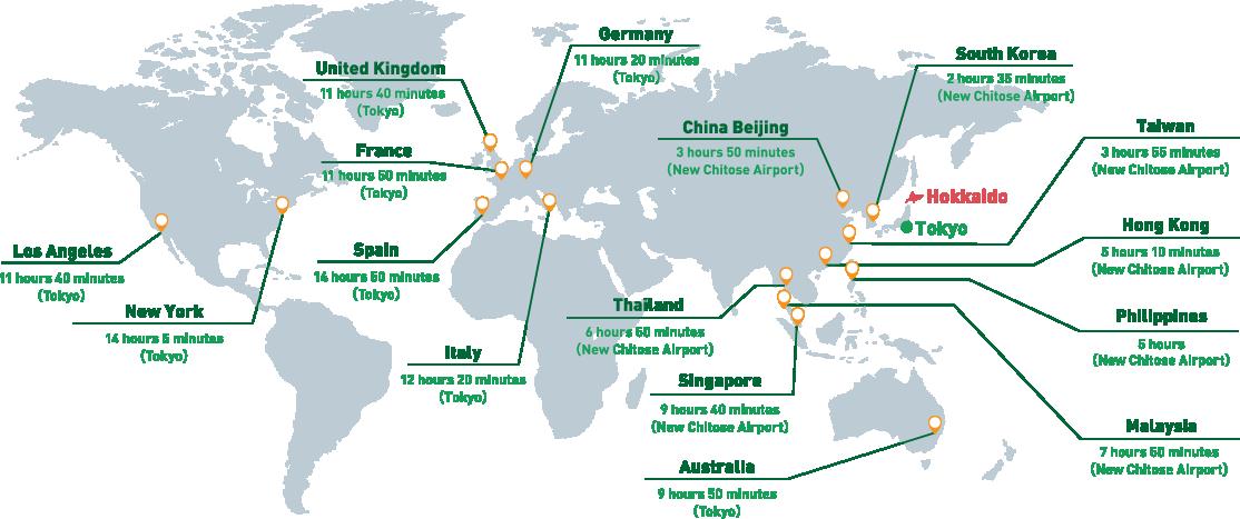 Hokkaido World Map.Hokkaido Kushiro Lakeakan Travel Guide Official
