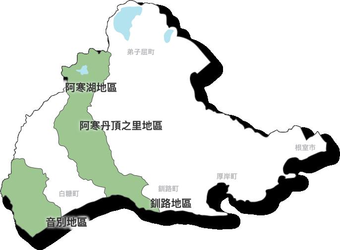 北海道道東詳細マップ