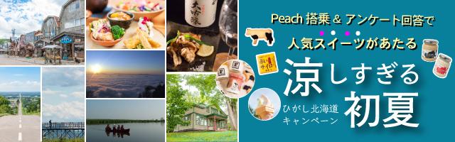 Peach(関西空港〜釧路空港)に搭乗&アンケートに答えてひがし北海道の人気スイーツをGetしよう!