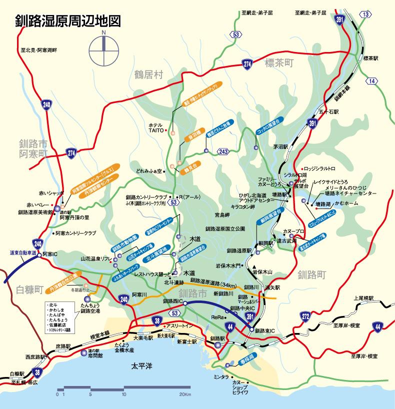 釧路湿原マップ